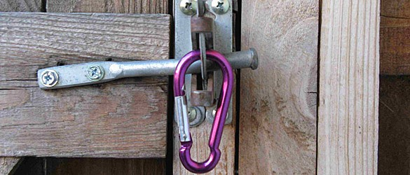 Spring Clip on Gate Latch